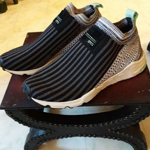 {Adidas} EQT Support Slip On Striped Sneakers